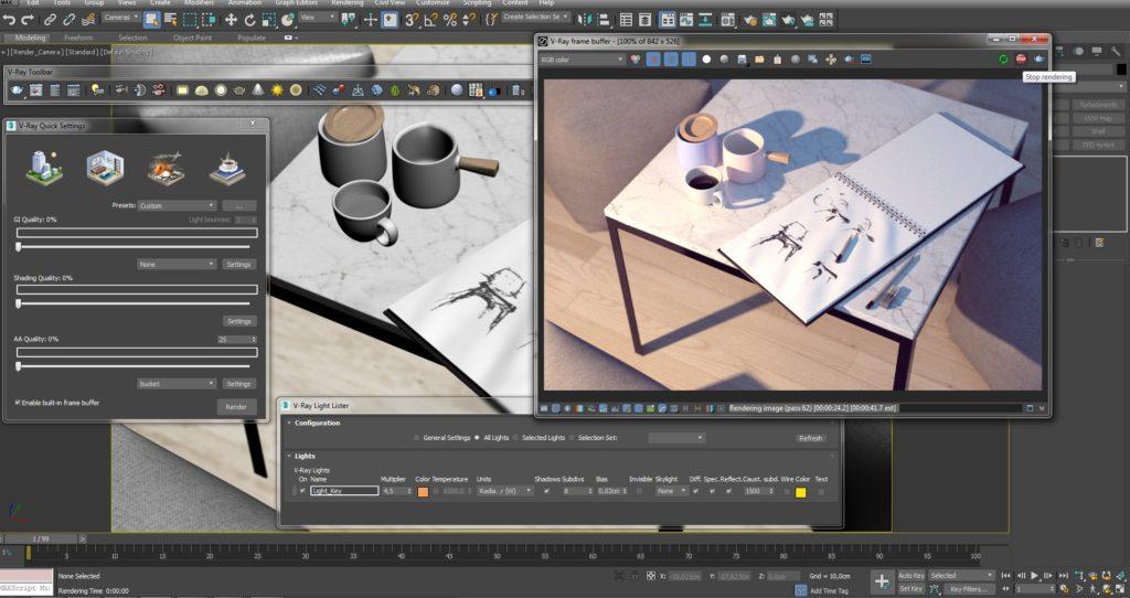 Το UI του V-Ray στο 3ds Max