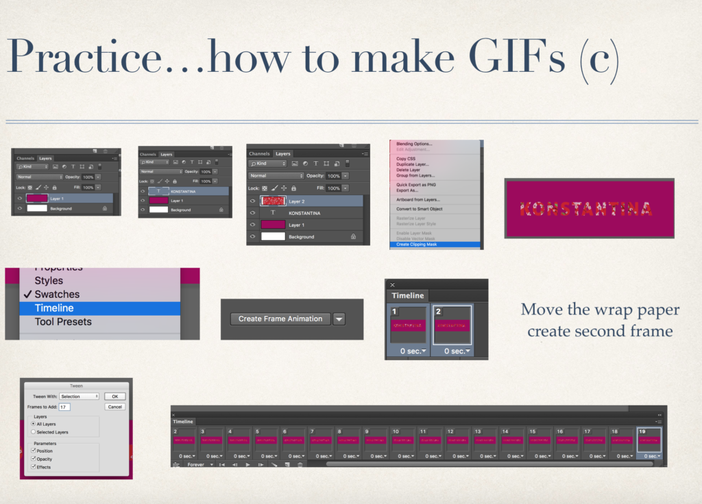 Practice...how to make GIFs