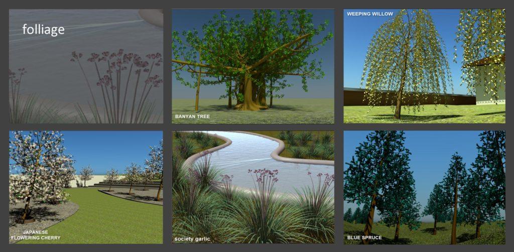 Φυτά και δέντρα του 3ds Max