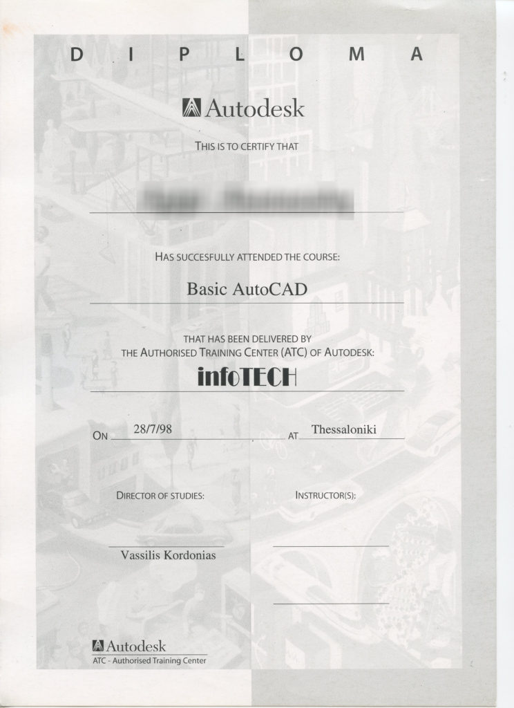 Old Certificate