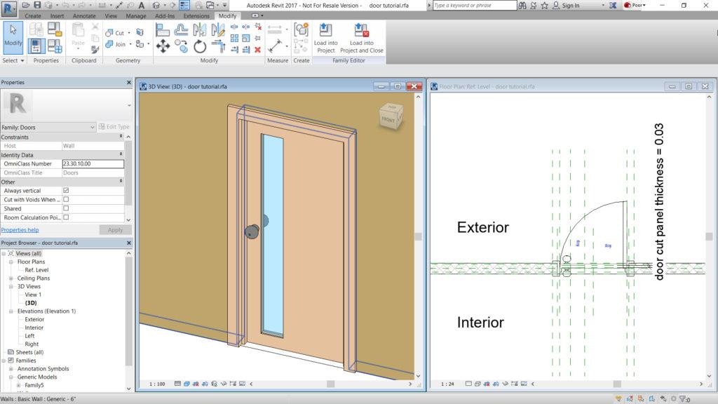 Παράδειγμα δημιουργίας μονής πόρτας.