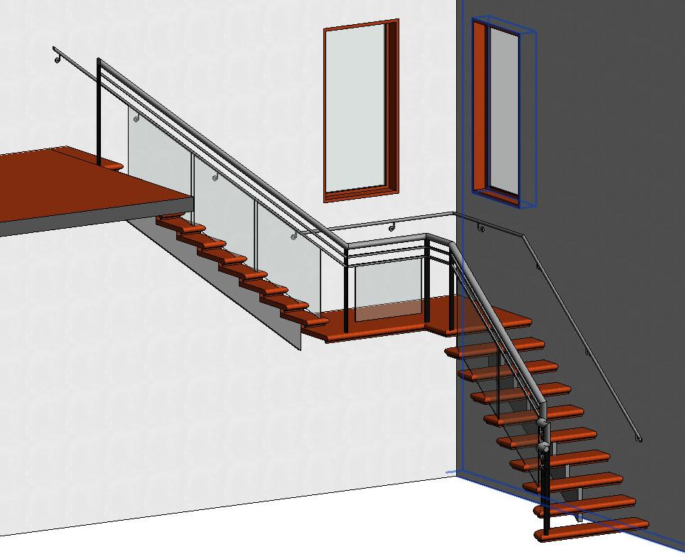 Παράδειγμα δημιουργίας σκάλας και κάγκελου