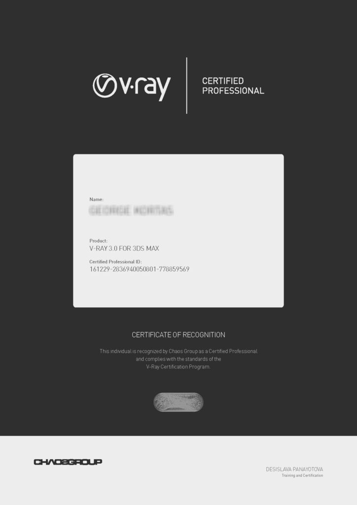 Chaosgroup V-Ray Certified Professional